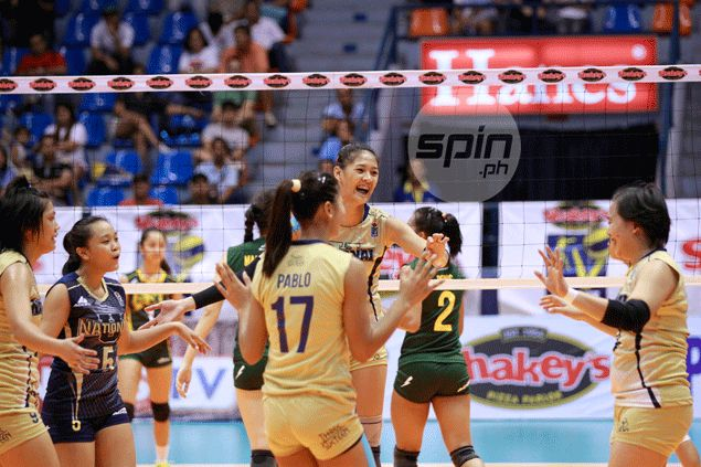 NU Lady Bulldogs put FEU Tamaraws on the brink with big win in Game One of semis