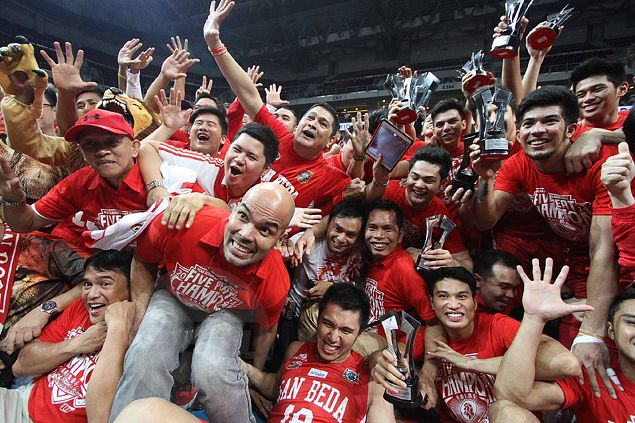 San Beda Red Lions complete sweep of Arellano Chiefs to claim fifth consecutive NCAA title