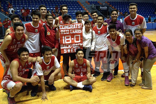 San Beda Red Cubs complete rare 18-game sweep to earn outright berth in NCAA finals