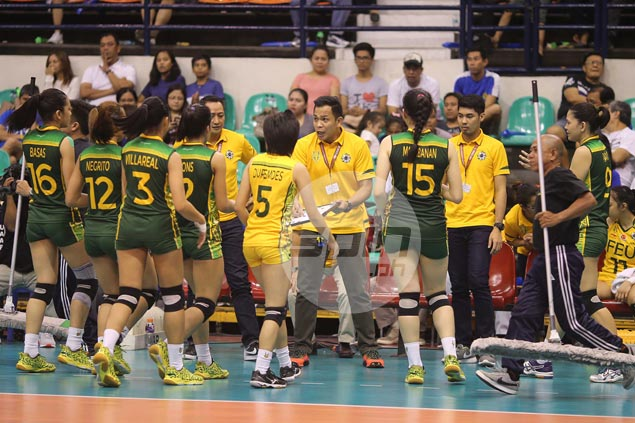 FEU coach Shaq delos Santos pleased to see Lady Tamaraws show grit under pressure
