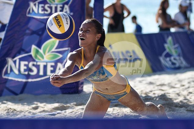 UST Tigresses buck slow start to whip UNO-Recoletos in Nestea Beach Volley opener