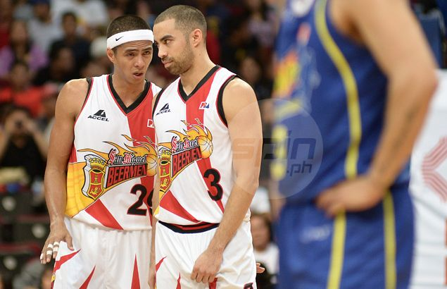 Arwind Santos happy to know Chris Lutz will be playing again - even for another team