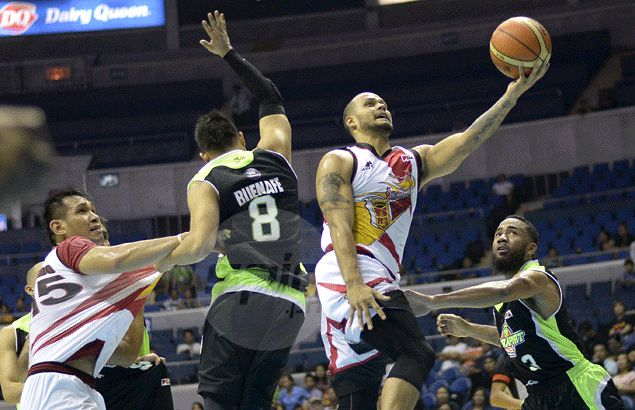 San Miguel Beer back in joint first place as Santos leads romp against GlobalPort