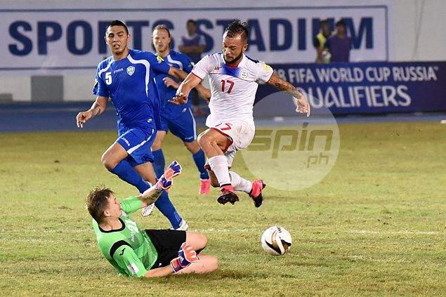 Quick-fire Uzbekistan dents Azkals' hopes with five-goal show in World Cup qualifier
