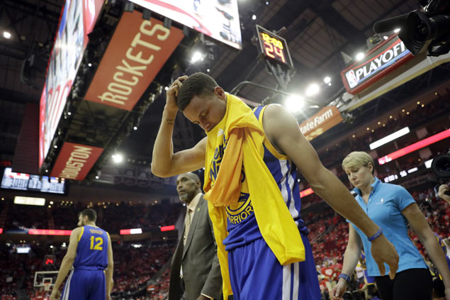 Warriors face more uncertainty as injury jinx continues to hound Steph Curry in playoffs