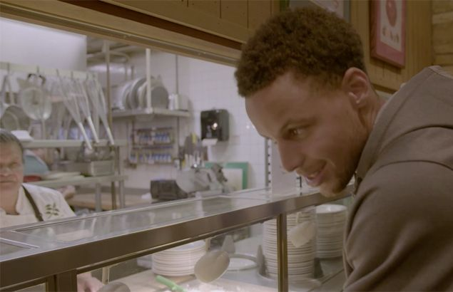 ESPN ad becomes real as Stephen Curry served chicken curry in basketball camp