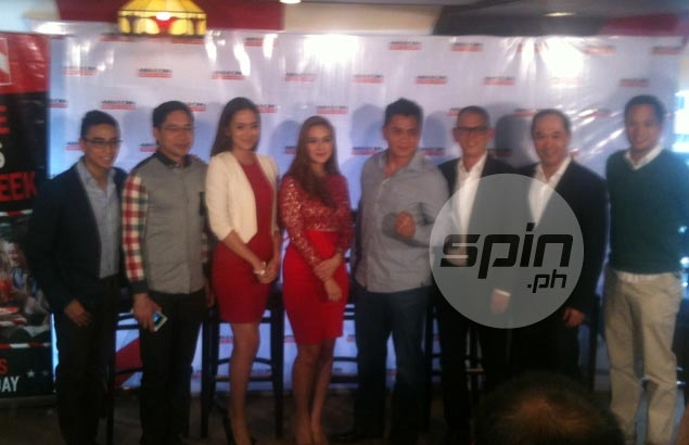 Present During The Launch Of ABS CBNu0027s Sports Channel Are Boom Gonzalez,  Anthony Taberna, Tina Marasigan, Jef Gaitan, UFC Fighter Fighter Cung Lee,  ...