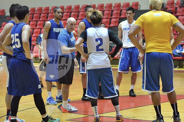 Gilas head coach Tab Baldwin challenges Terrence Romeo to act and be a leader