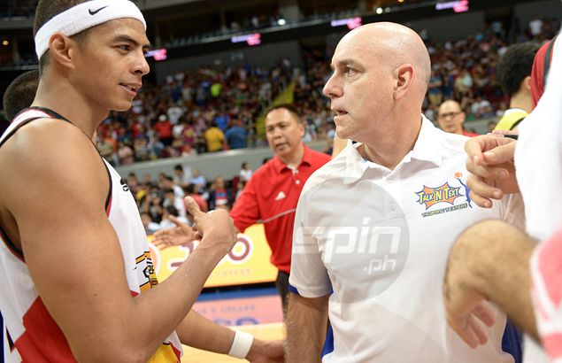 Arwind Santos willing to play for Gilas coach Tab Baldwin despite run-in in PBA playoff game