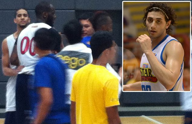 Purefoods' Yousef Taha caught punching Rain or Shine import as fight mars yet another PBA tune-up game
