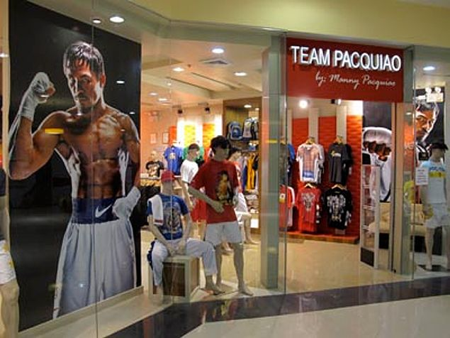 Sales in Manny Pacquiao's merchandise stores perk up as 'Pacfloyd mania' gains steam
