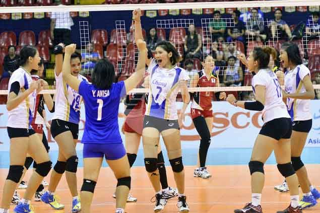 Plucky Thais battle back from two sets down against Japan to earn shot at China in final