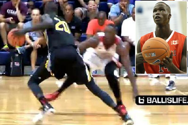 WATCH Thon Maker, 7-foot-1 teen with a killer crossover move, makes college scouts drool