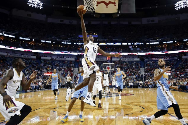 Toney Douglas, Luke Babbitt lead charge as unheralded reserves lift shorthanded Pelicans over Nuggets