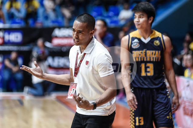 Coach Topex Robinson in no celebratory mood after Lyceum's hard-earned first win in NCAA