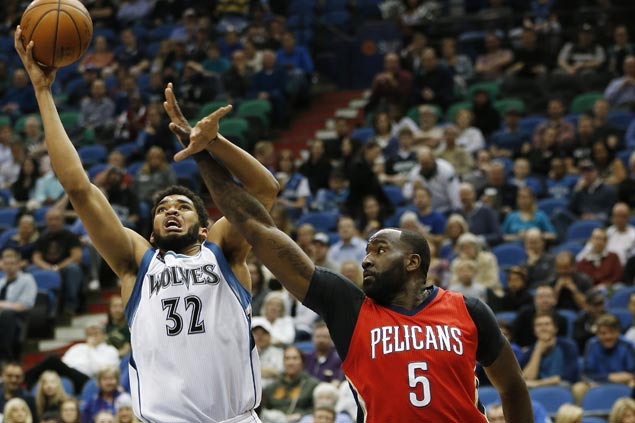 Towns punctuates Rookie of the Year campaign with huge game as Wolves blast undermanned Pelicans