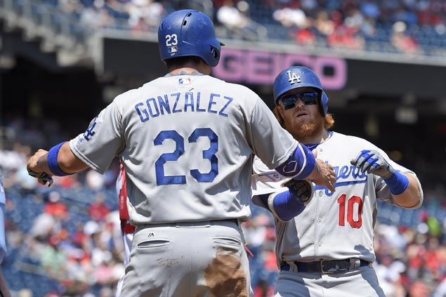 Turner, Gonzalez lead Dodgers to beat down Nationals, hand Strasburg first loss in 10 months