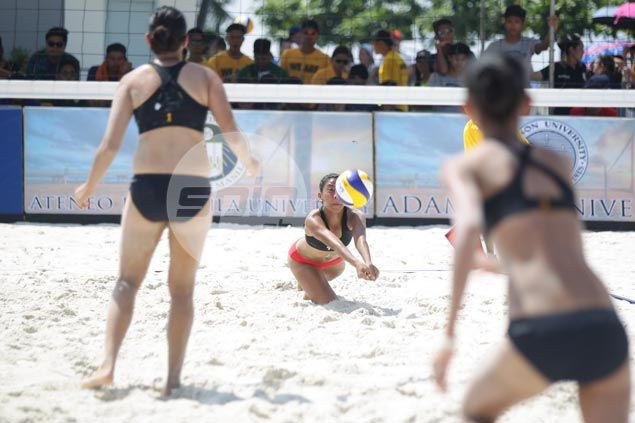 Holders UST Tigresses fall flat in UAAP beach volleyball debut as Adamson takes thriller