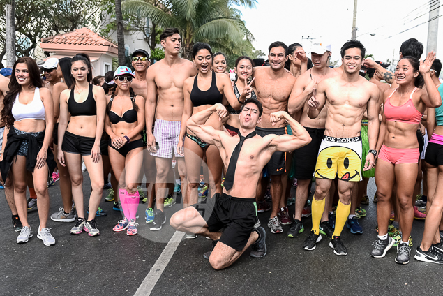 Top athletes let hair down to take part in Century Tuna Underpants Run