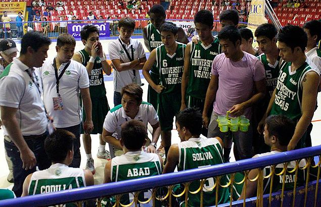 Suspended guard Franz Arong takes on a new job - as UV Lancers' waterboy