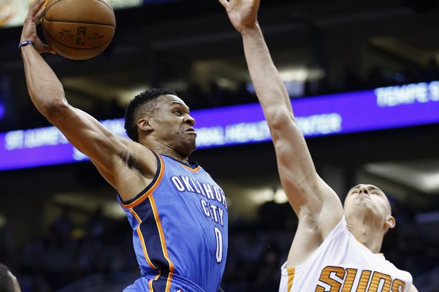 Thunder buck slow start, rally late in the fourth to send Suns crashing to eighth straight loss