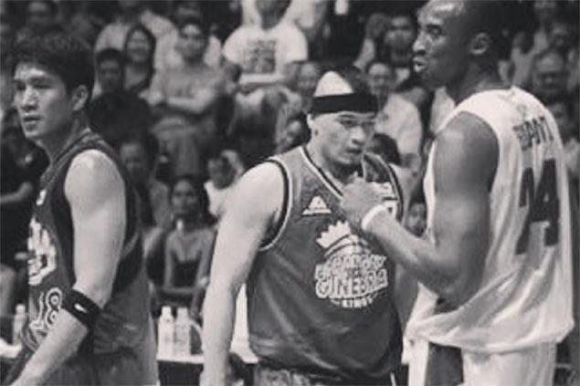 Yap leads PBA stars' tribute to Kobe Bryant then jokes, 'Sana makuha ka naming import'