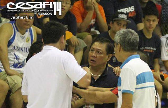 Cebu coaches Yayoy Alcoseba, Junthy Valenzuela clash not once but twice in heated Cesafi finale