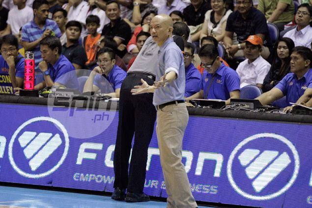 Yeng Guiao pleads for PBA to examine 'worsening officiating' despite Rain or Shine win in Game One