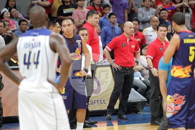 Johnson knocks down Guiao and Talk 'N Text asserts mastery of Rain or Shine in Game One