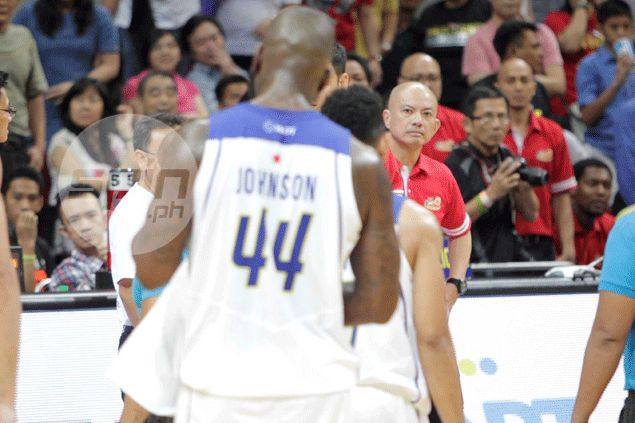 Yeng Guiao says Ivan Johnson bump was intentional, shows 'lack of breeding'