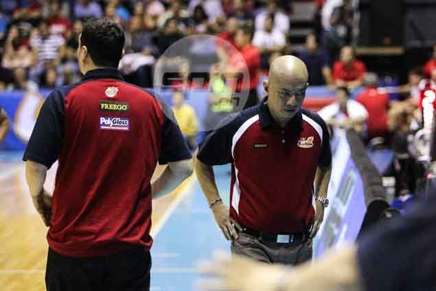 RoS coach Yeng Guiao blames no one but themselves for 'messing up' in Game 6